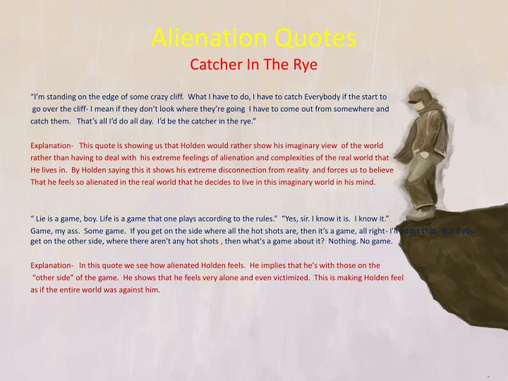 catcher in the rye isolation quotes