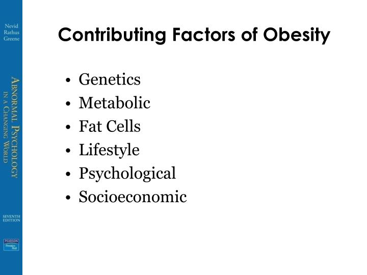 Contributing Factors of Obesity