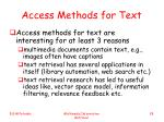 access methods for text