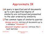 approximate ir