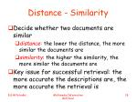 distance similarity