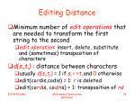 editing distance