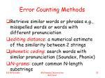 error counting methods