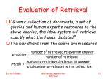 evaluation of retrieval