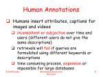 human annotations