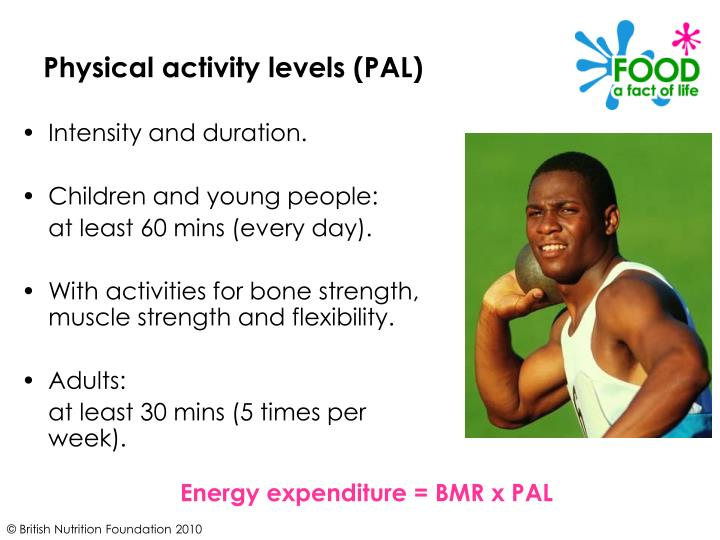Physical activity levels (PAL)