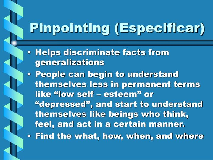 Pinpointing (Especificar)