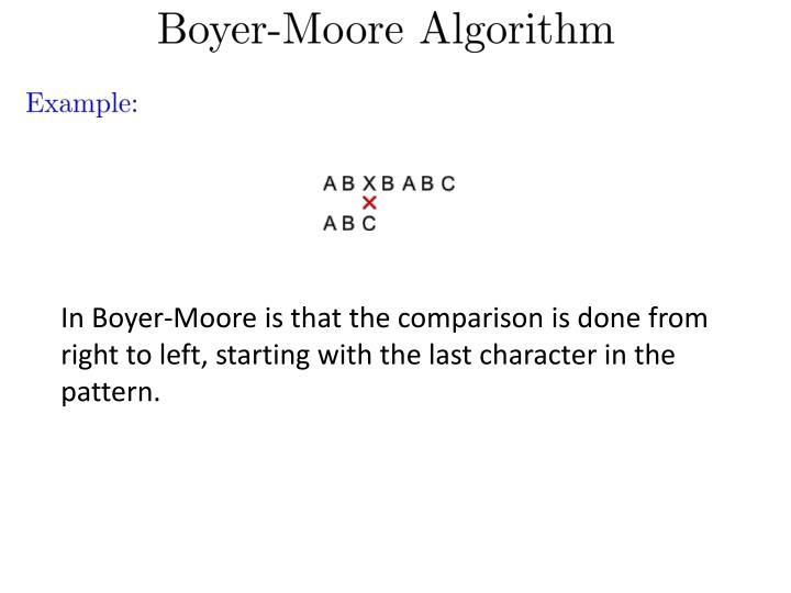 In Boyer-Moore