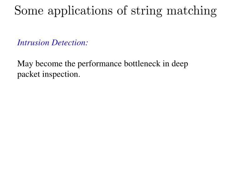 Intrusion Detection: