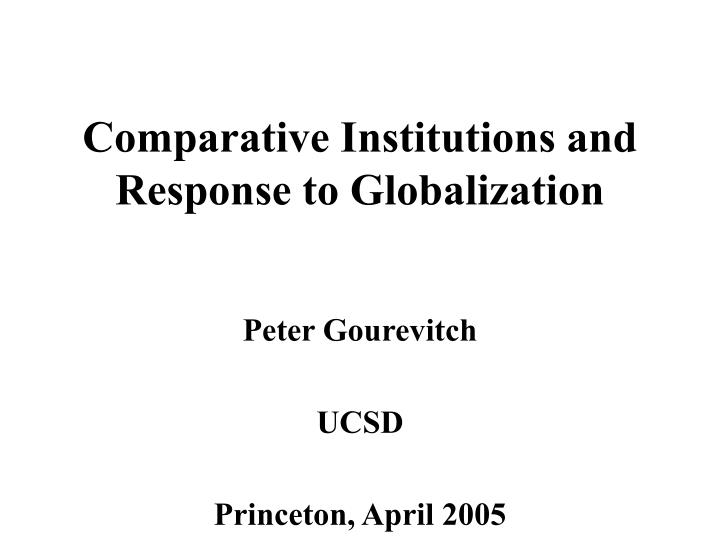 the response of literature to globalization Globalization, poverty and section 2 of this paper surveys the literature its response to liberalizing reforms in both the ussr and china.