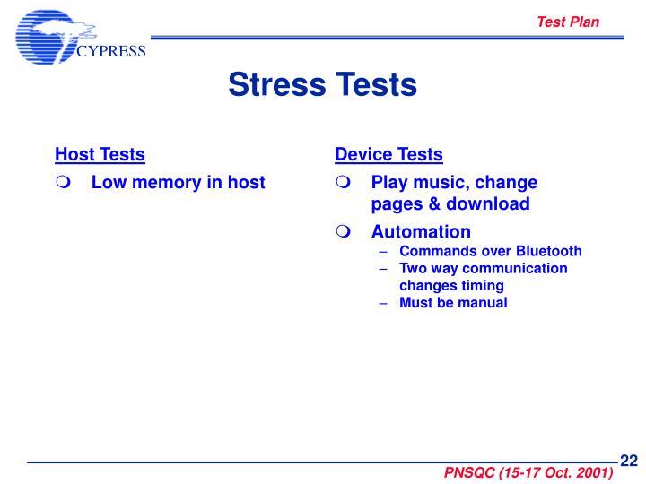 Host Tests