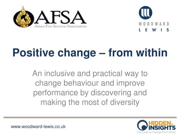 positive change from within n.