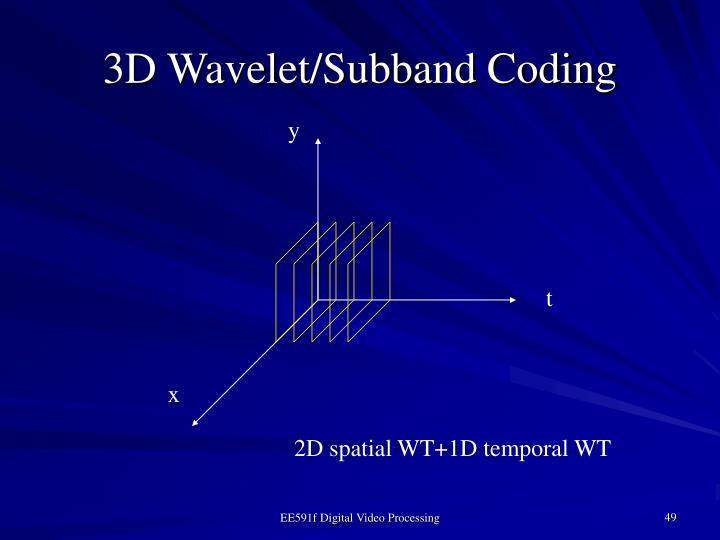 3D Wavelet/Subband Coding