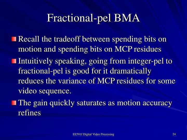 Fractional-pel BMA