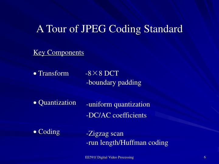 A Tour of JPEG Coding Standard