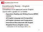 conditionally ready english beginning 2012 2013
