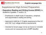 supplemental high school preparation