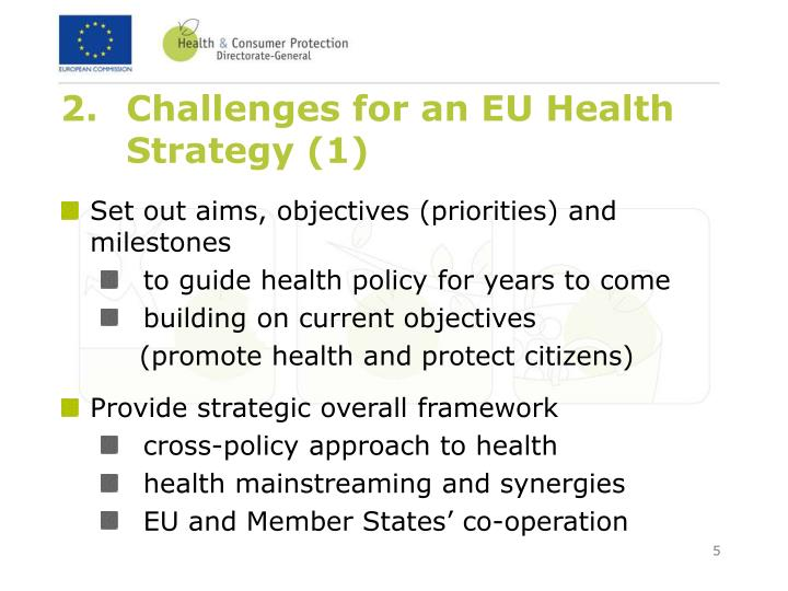 Challenges for an EU Health