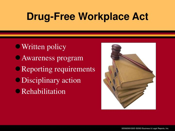 Drug-Free Workplace Act