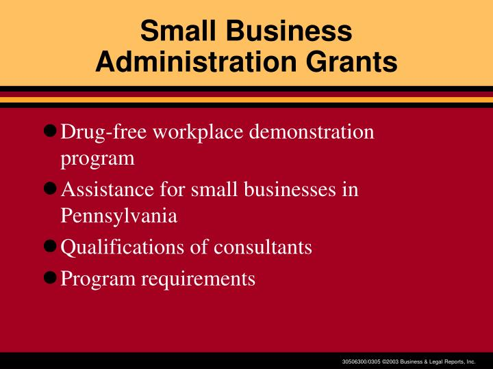 Small Business Administration Grants