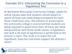 example 10 5 interpreting the conclusion to a hypothesis test