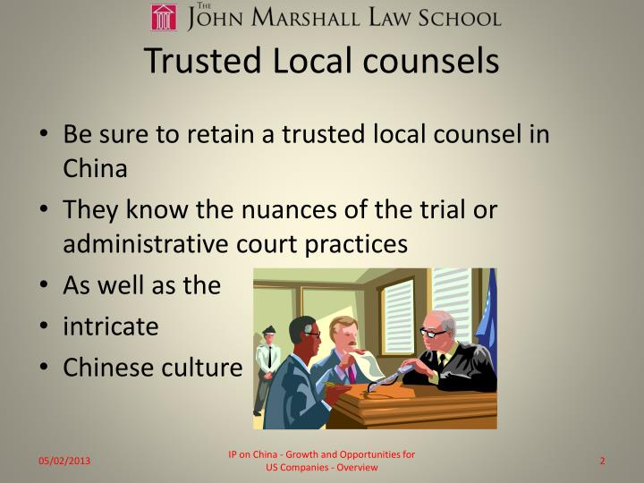 Trusted local counsels