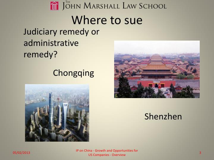 Where to sue