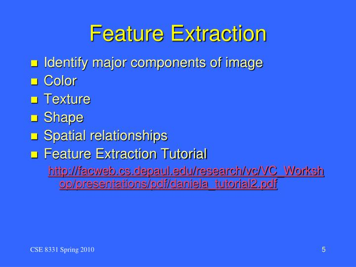 Feature Extraction