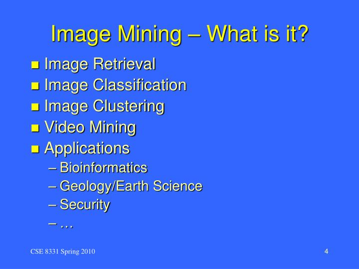 Image Mining – What is it?