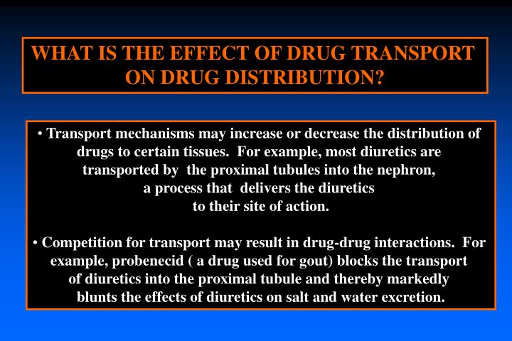 WHAT IS THE EFFECT OF DRUG TRANSPORT