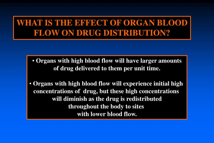 WHAT IS THE EFFECT OF ORGAN BLOOD