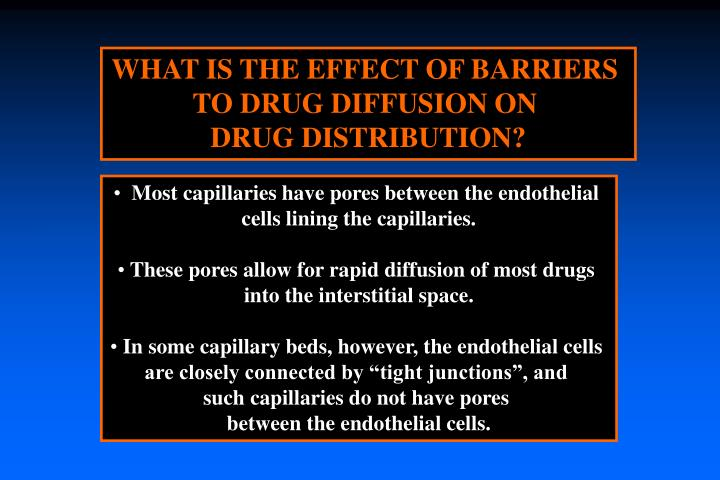 WHAT IS THE EFFECT OF BARRIERS
