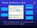 styles modifying a style