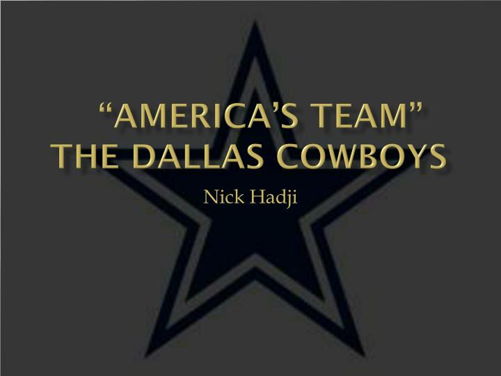 america s team the dallas cowboys n.