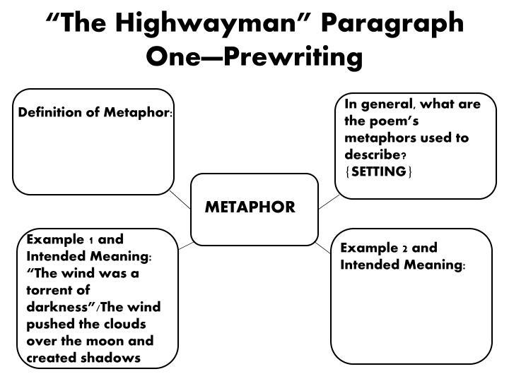 metaphors in the highwayman