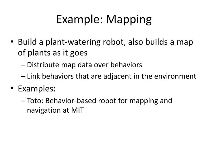 Example: Mapping