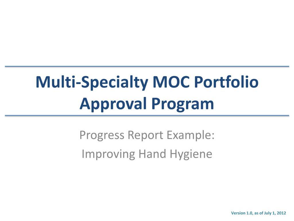 progress report presentation example