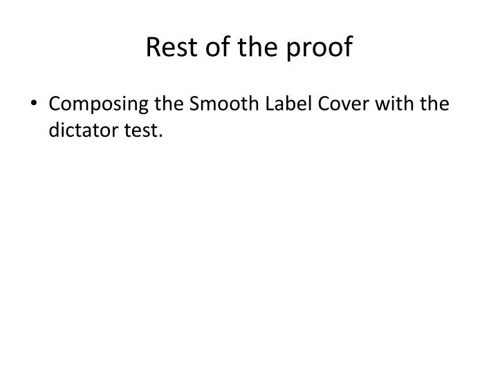 Rest of the proof