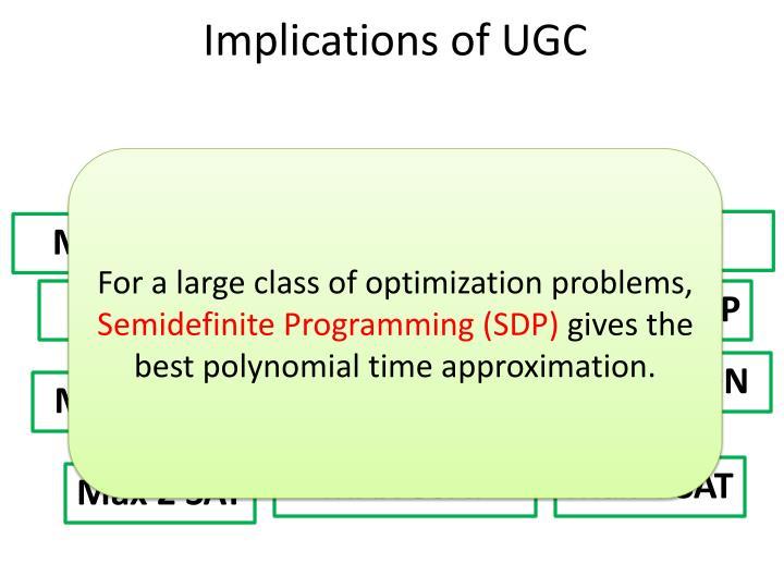 Implications of UGC