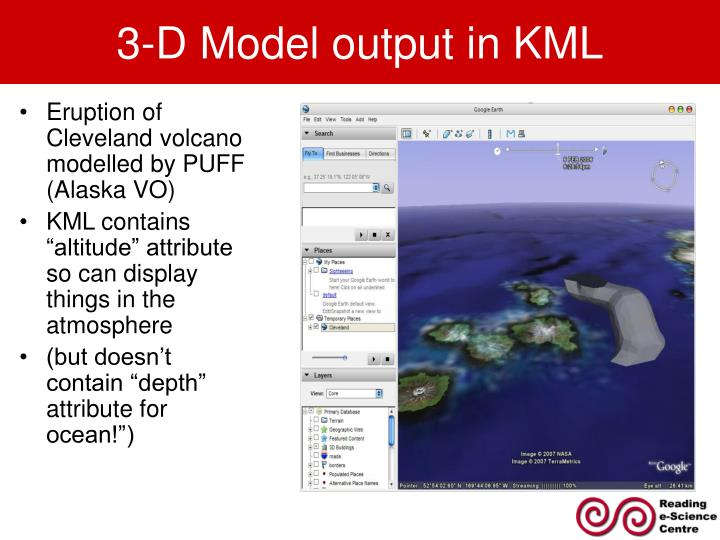 3-D Model output in KML