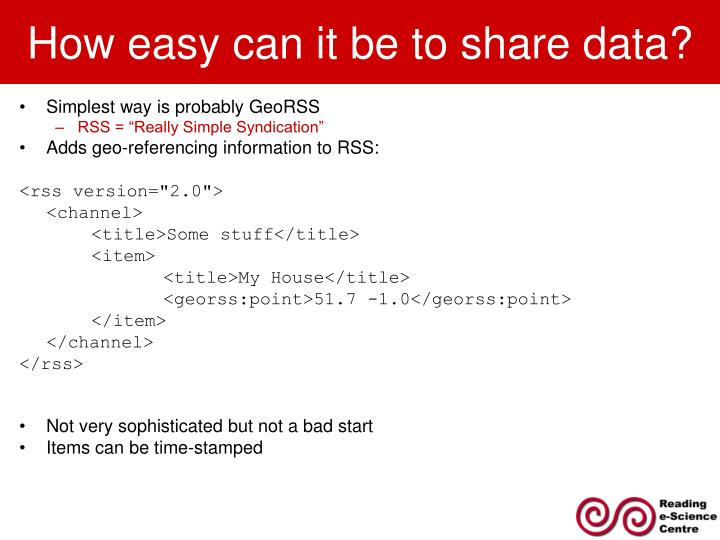 How easy can it be to share data?