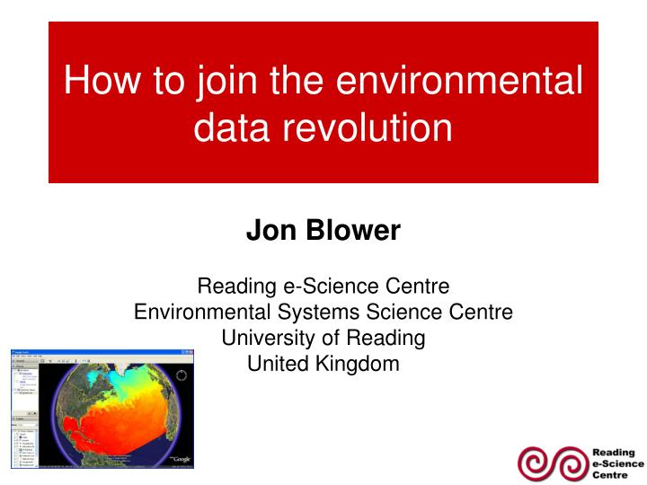 How to join the environmental data revolution