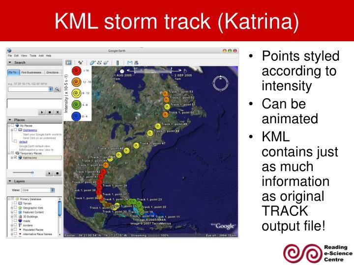 KML storm track (Katrina)