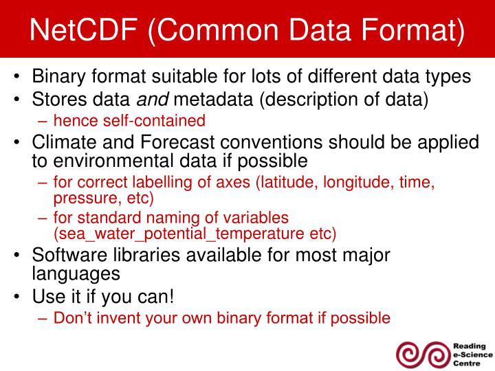 NetCDF (Common Data Format)