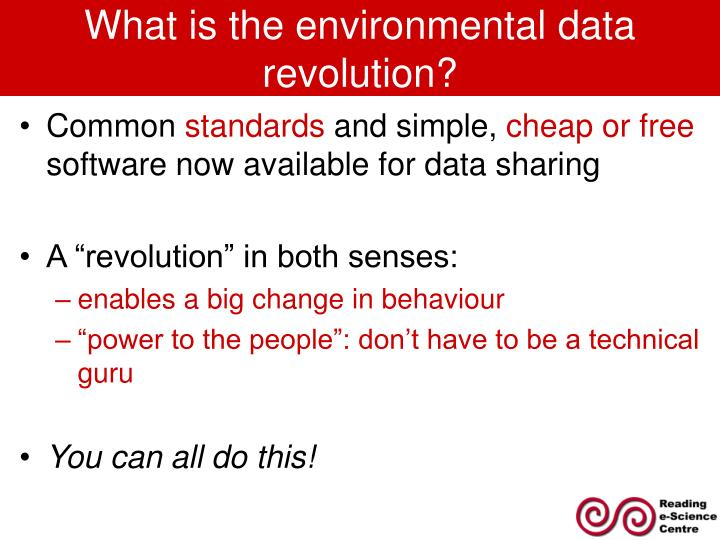 What is the environmental data revolution