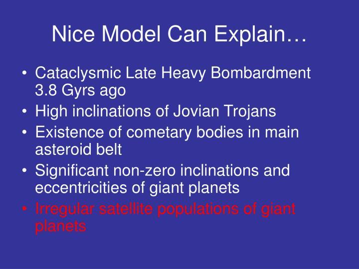 Nice Model Can Explain…