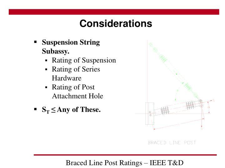 Suspension String Subassy.