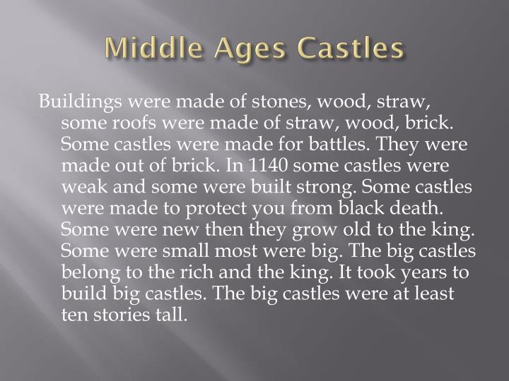 Middle ages castles