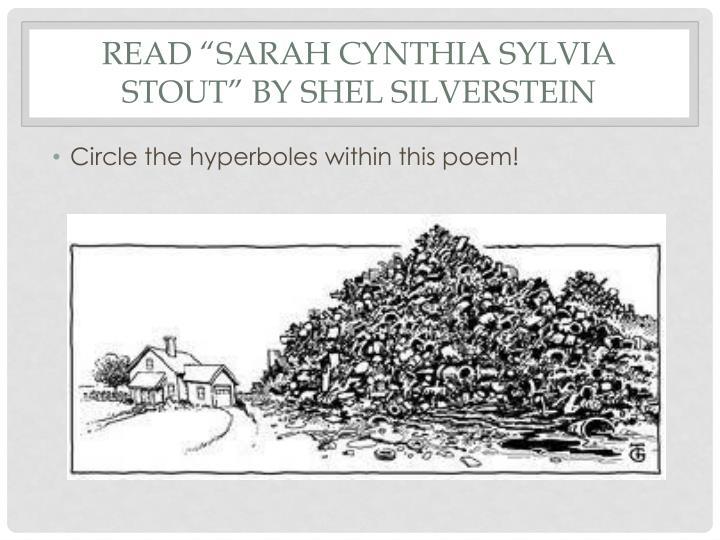 """Read """"Sarah"""
