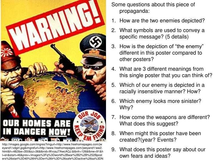 Some questions about this piece of propaganda:
